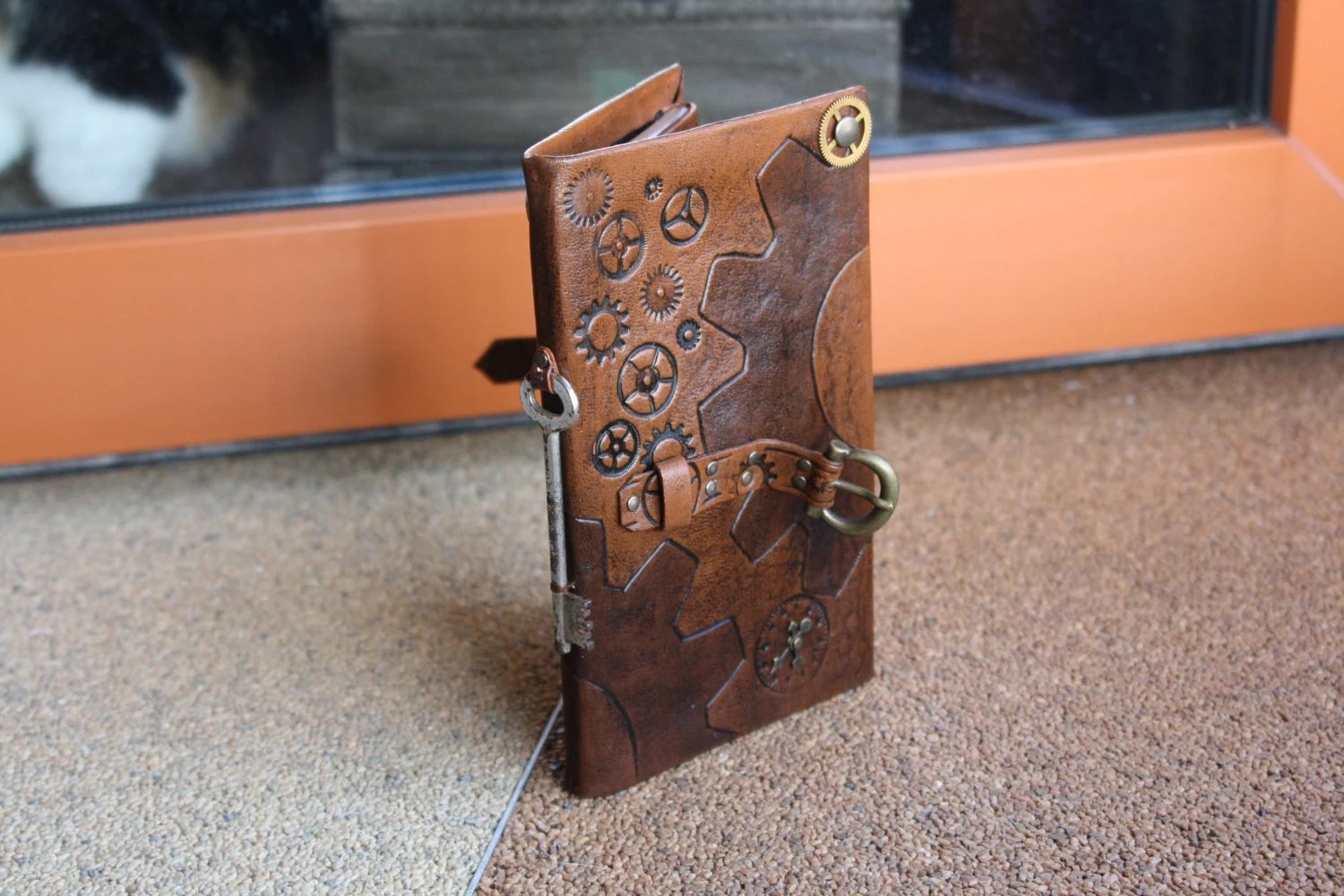 steampunk leather tablet case