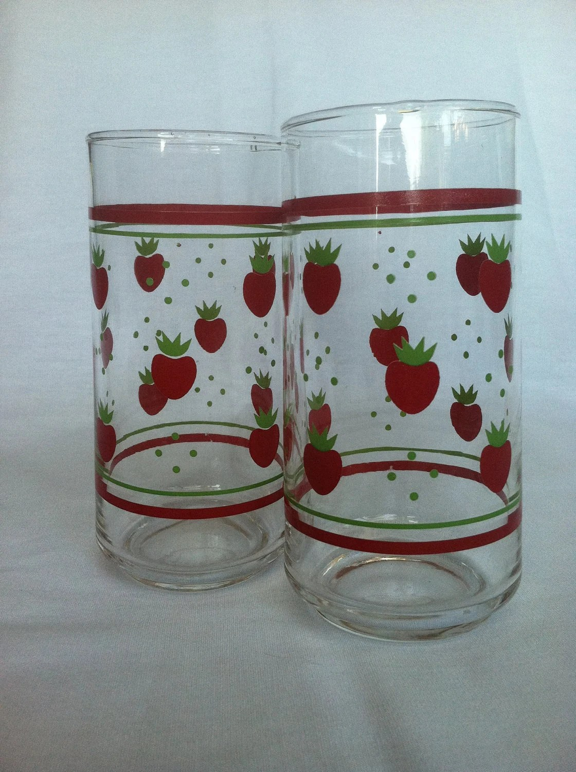 Strawberry Drinking Glasses