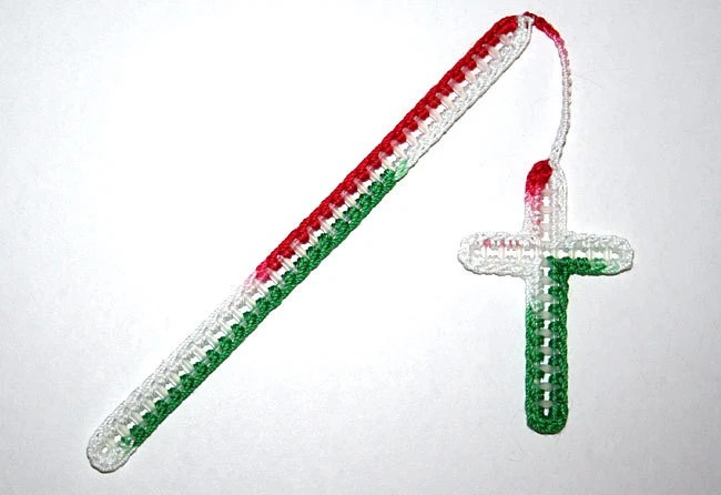 Christian Bookmark - Red, Green, and White - CampFaith