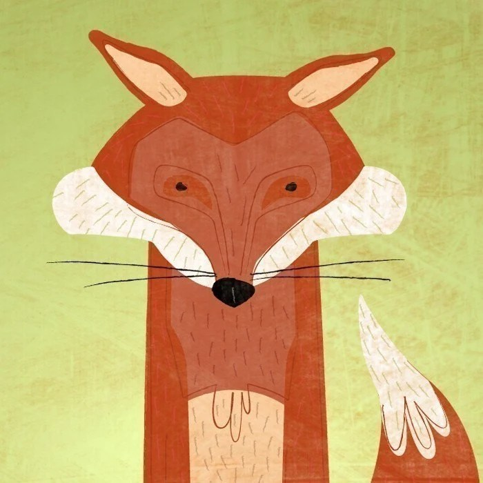 Red Fox Art Print - The Crooked Fox Print 8.5 in x 11 in Child Decor Fox - Children's Art Print - johnwgolden
