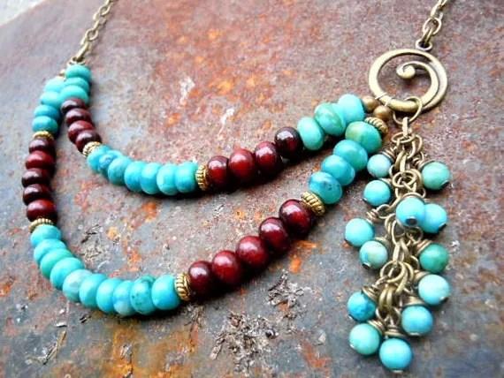Grounding Stone/ Jasper / Rosewood / Meditation / Divination / Spiritual Healing / Energy Jewelry / Protective Stone