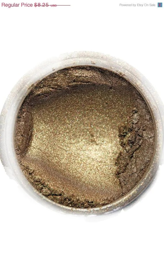 Makeup EyeShadow, ( texture: jewel luster ) in shade , 'Pandoras Box ' mineral make up eye shadow, wet or dry, natural - CrushedBotanicals