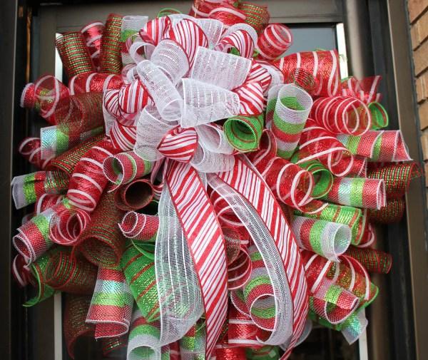 Christmas Deco Mesh Wreath Ideas