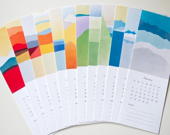 Landscapes 2013 Calendar, Christmas Gift, Hostess Gift, Wall Calendar - evesand