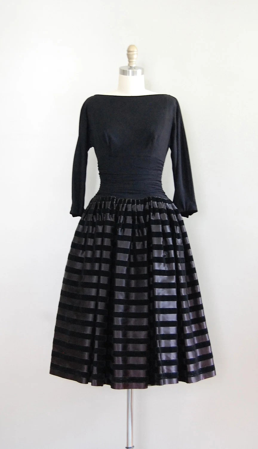 vintage 1950s dress / 50s party dress / Magnum Opus