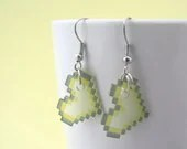 Pixelated Yellow Heart Earrings - PetitsPixels
