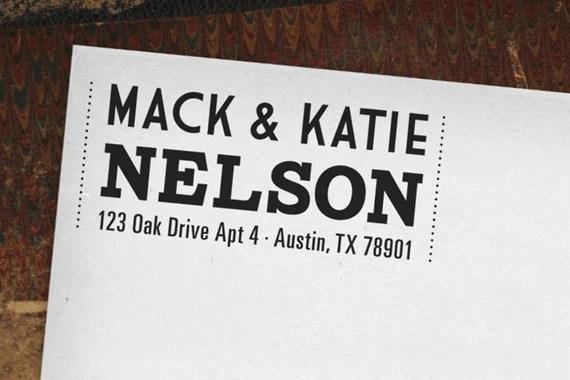 Self-Inking Custom Return Address Stamp - The Nelson