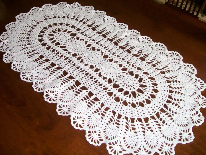 Free Crochet Doily Table Runner Patterns   www.microfinanceindia.org