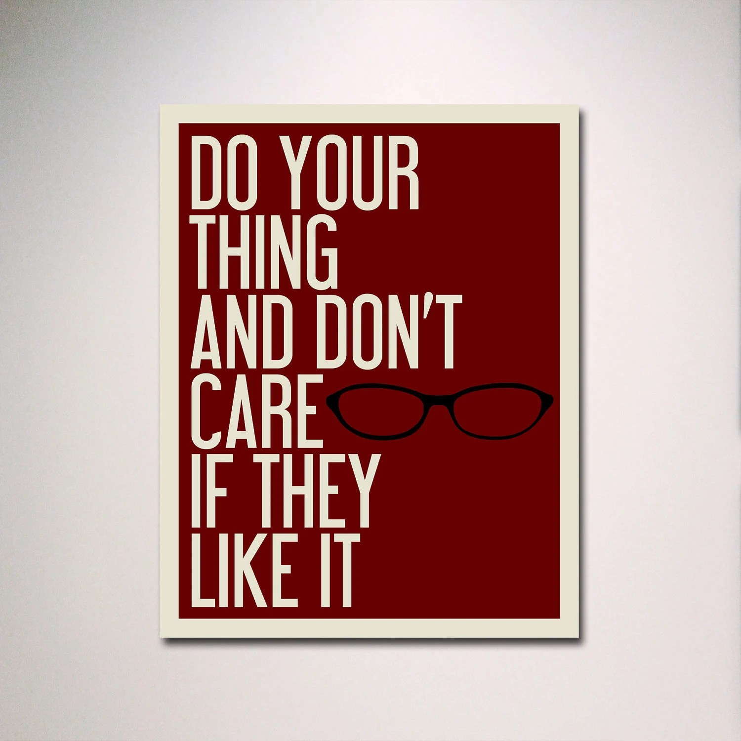 "Typography / Tina Fey Quote / 11"" x 14"" Poster Print / Inspirational Quote / Do Your Thing"