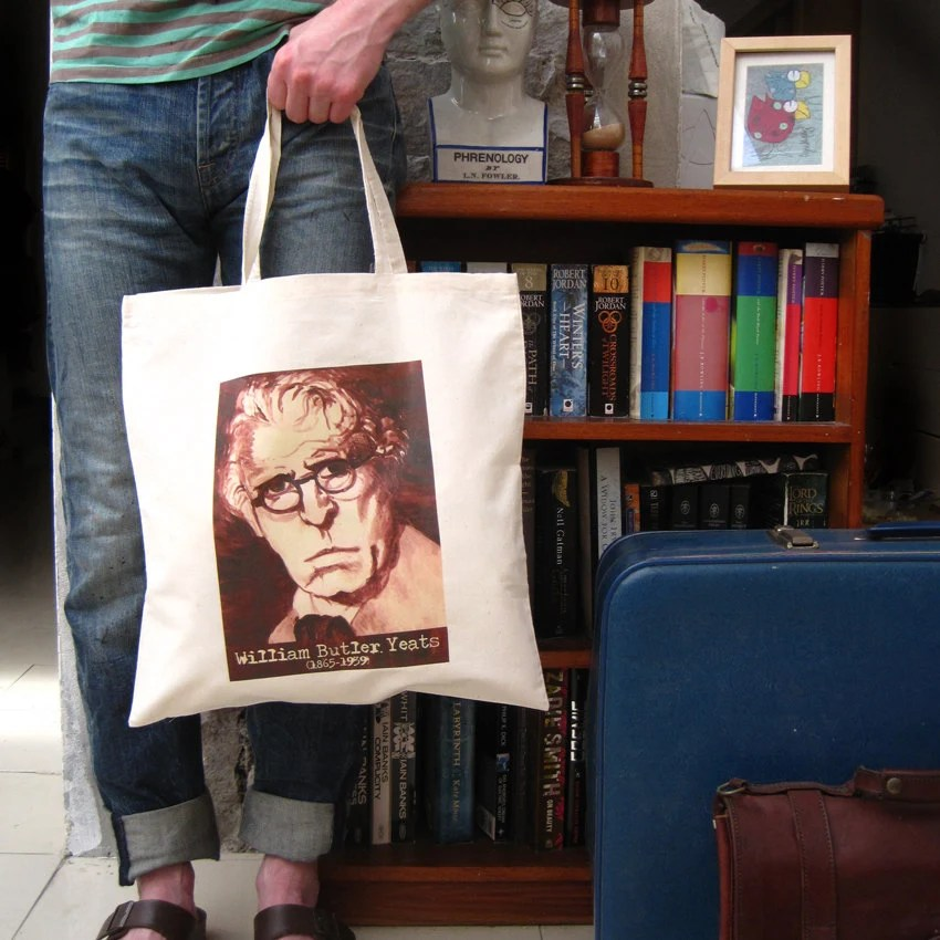 William Butler Yeats Canvas Tote Bag