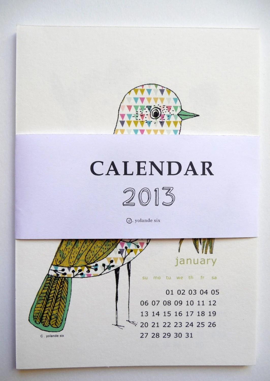 2013 Calendar - wall calendar 2013 customizable for a birhtday - mademoiselleyo