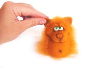 Needle Felted Toy- Red Fox. Halloween. Orange. Autumn colors. Gift under 50 - VladaHom