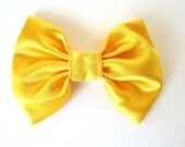 Bright Yellow Bow Hair Clip 1458/1460/1462/1463 - LaceandLuxe