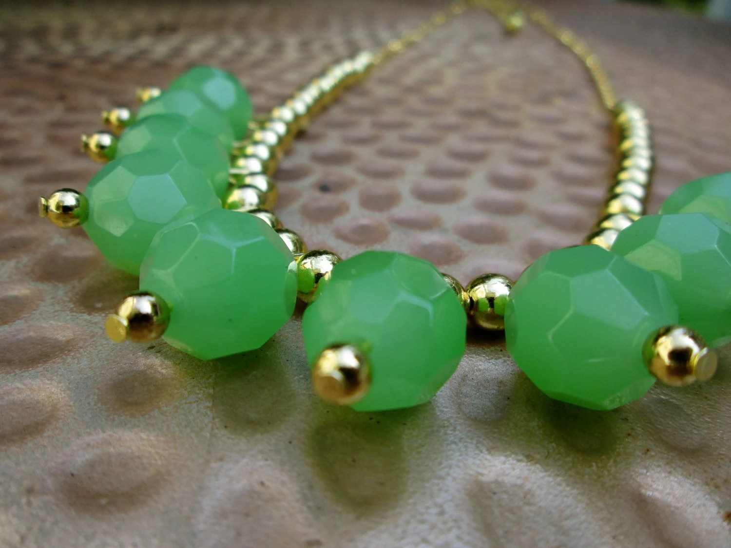 Green Statement Neckalce