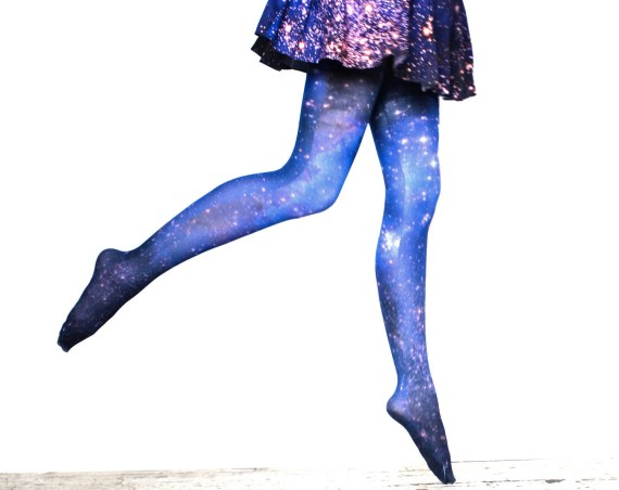 Galaxy Tights Magellanic Cloud Nebula Space Sheer Leggings - Shadowplaynyc