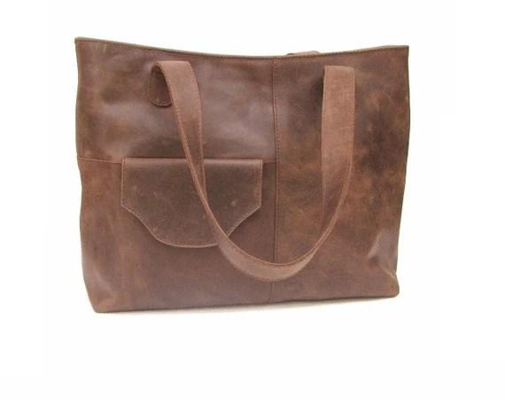Leather bag Market  bag women bag Satchel leather bag handbag tote bag brown bag