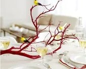 Obscurious Bird Adorned Red Branch Centerpiece