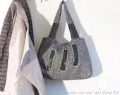 Classic Handmade Wool Bag. Modern Wool purse. - ForevArt