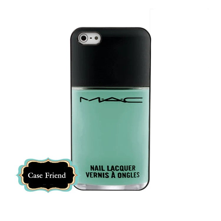 MAC nail polish iphone4 Mint Nail Polish iphone4s hard case girly make up iphone case Ships from US