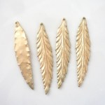 cast brass Leaf charms