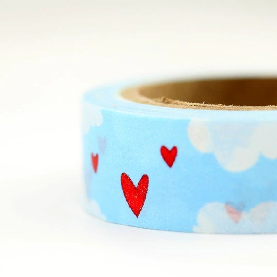 Heart in the Clouds Washi Tape