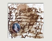 Original art, calligraphy, lover's poem by Michael Angelo, brown collection, Acryl colors - hanikj