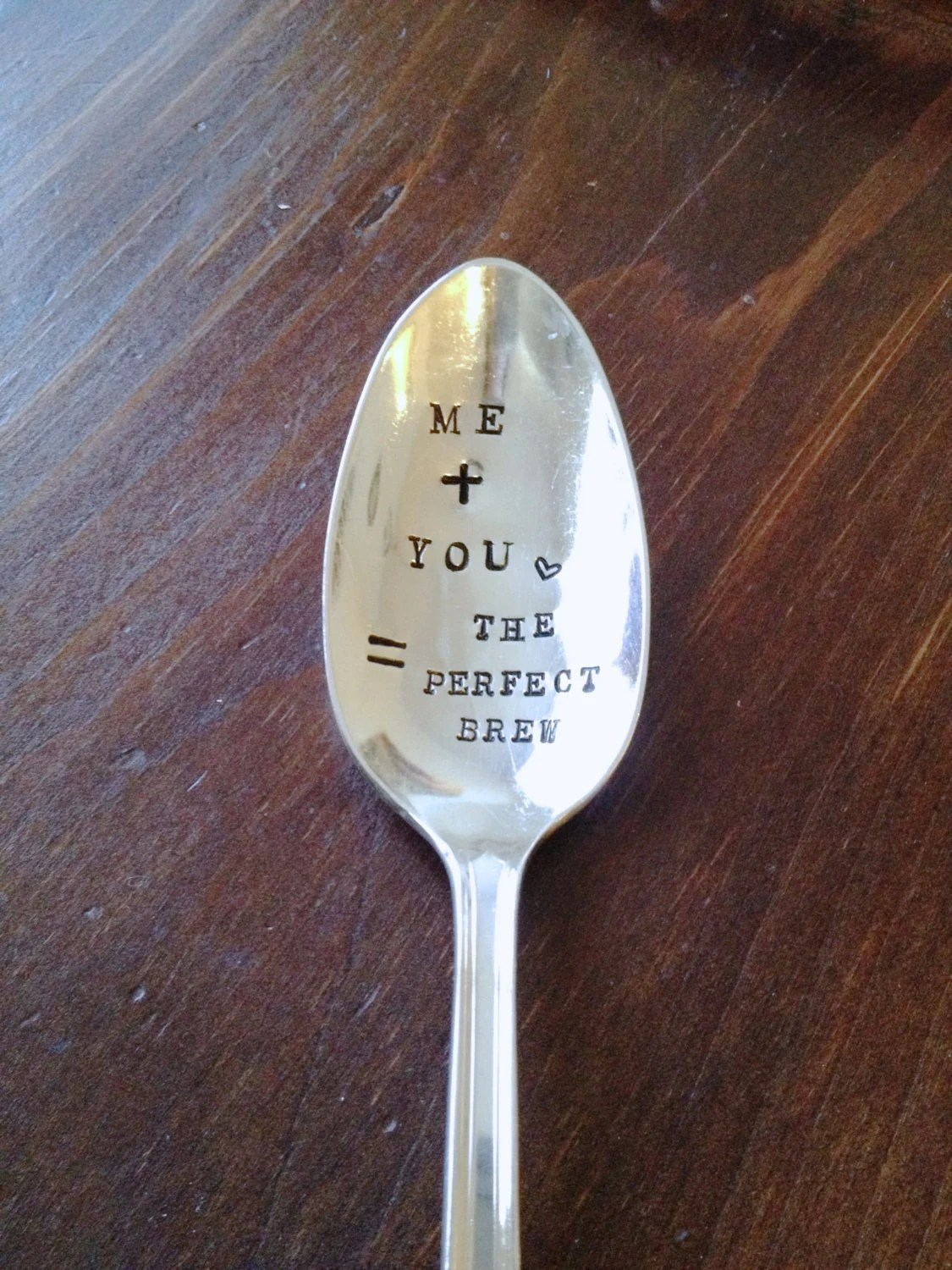 handstamped spoons for a rustic coffee wedding