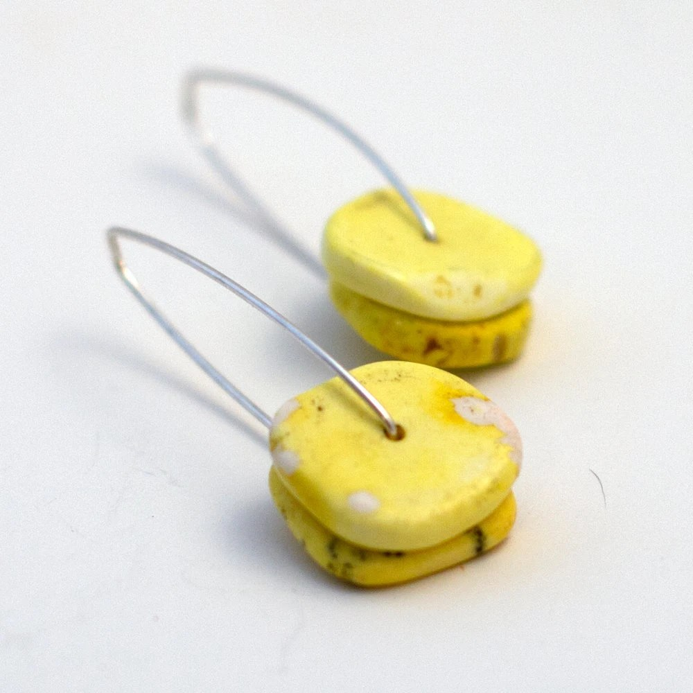 yellow howlite on silver - kristapeel