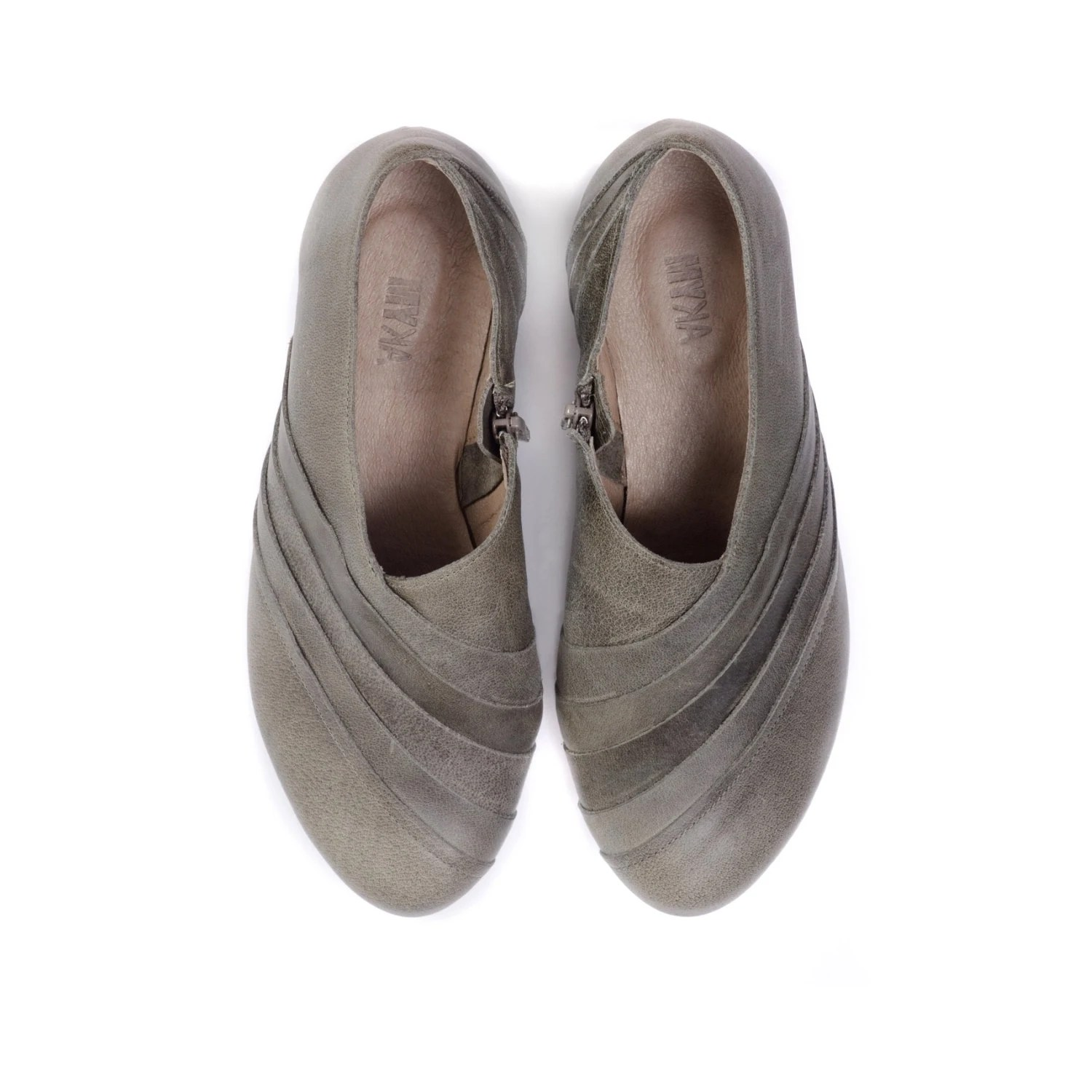 women flat shoes, flat grey shoes - MYKAshop