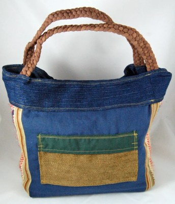 Blue Product Upcycled Shoulder Bag