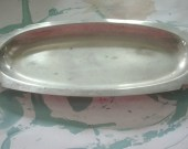 Art Deco Serving Tray -Cake plate - Plate Silver- Vintage Tableware