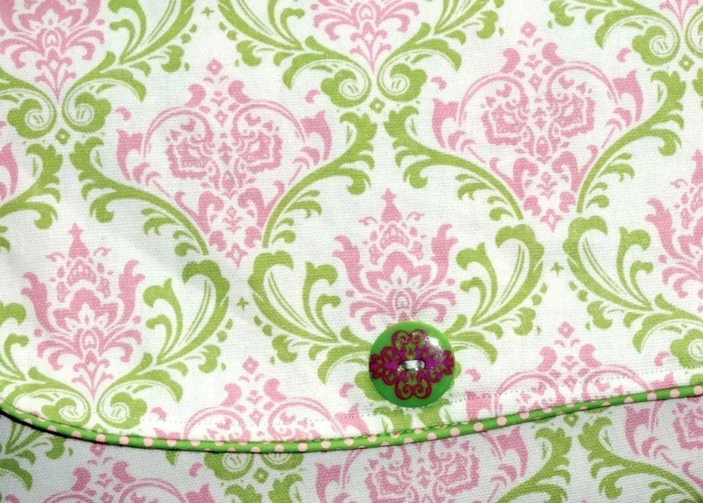 Pink and Green Diaper Clutch and Changing Pad -- FREE SHIPPING