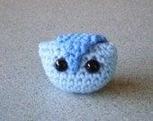 Amigurumi Owl -Small Crocheted From Blue Acrylic Yarn