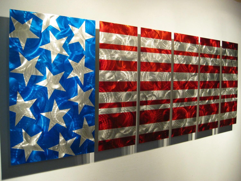 Modern Metal Art Home Decore American Flag by J Replogle