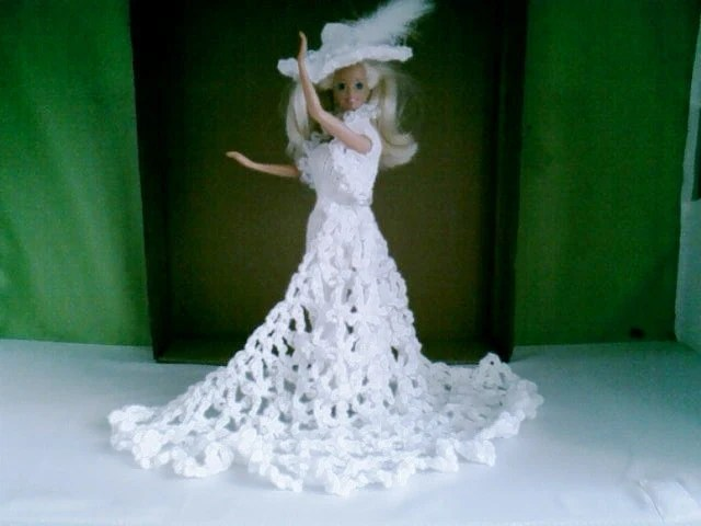 BARBIE DOLL CLOTHES handmade Royal Wedding inspired wedding dress ( nannycheryl original)  850 x 35