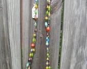 Uganda Magazine bead necklace long