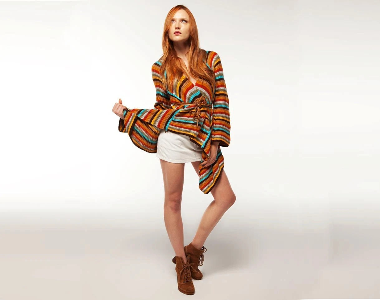 Multi Color Top / Tunic: Redemption. Handmade, New Collection 2012
