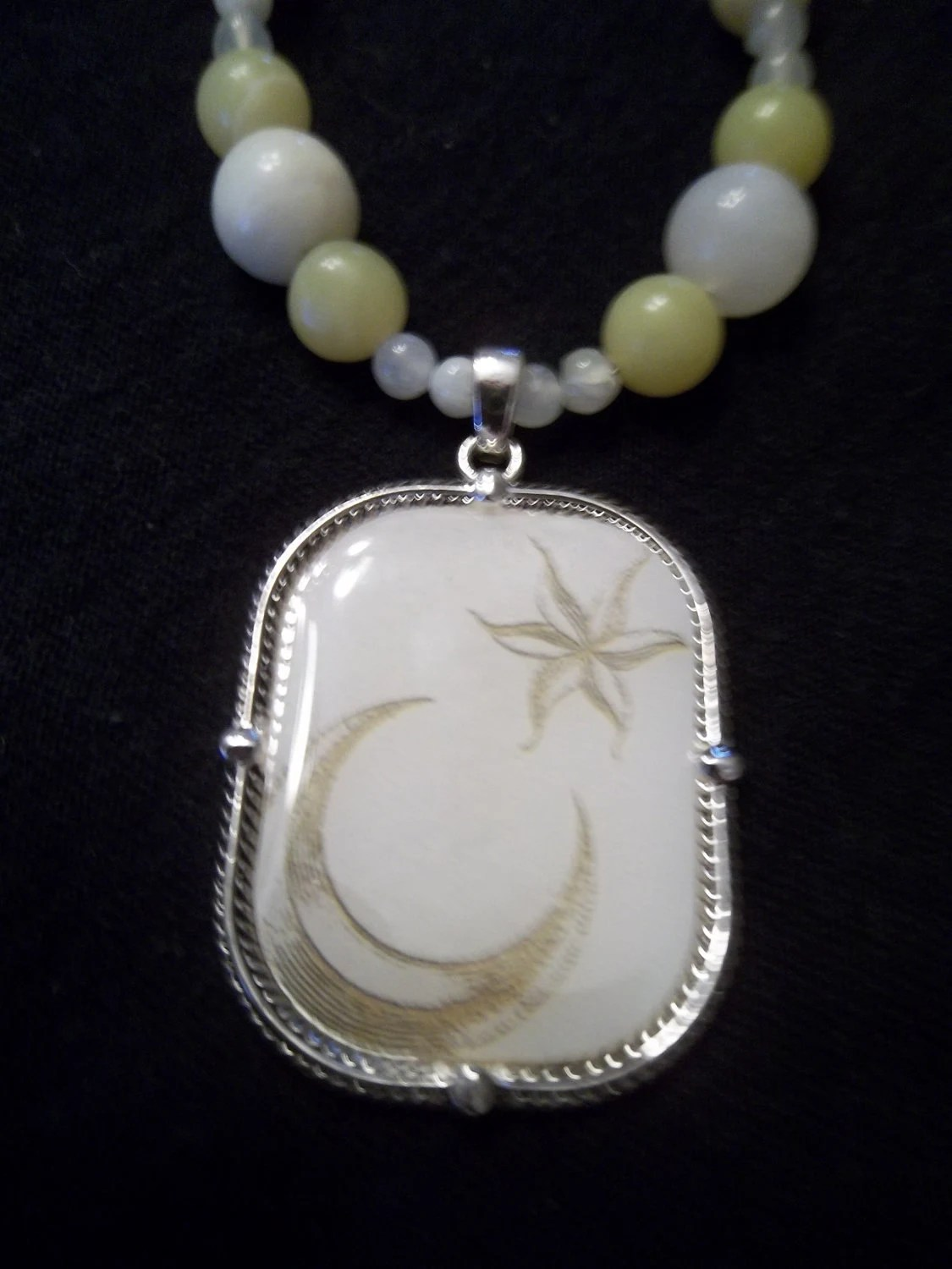 Serious Moon Light Jade Necklace OOAK