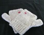 Hand-knitted Scottish Tweed Fingerless Gloves