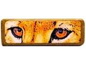 Big Cat Brooch Lion Eyes Unique cat jewellery - LorikArt
