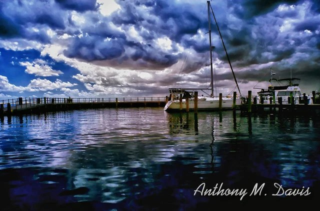 Dramatic Sky and Boat Docks in Edenton North Carolina