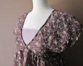 London Flowers - OOAK Floral Dress