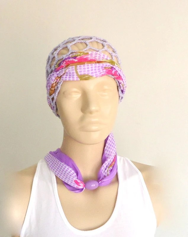 crochet, lilac, summer ladies'  Hat Beret Cap Head Accessories, and head circumference, fine cotton decorated with writing