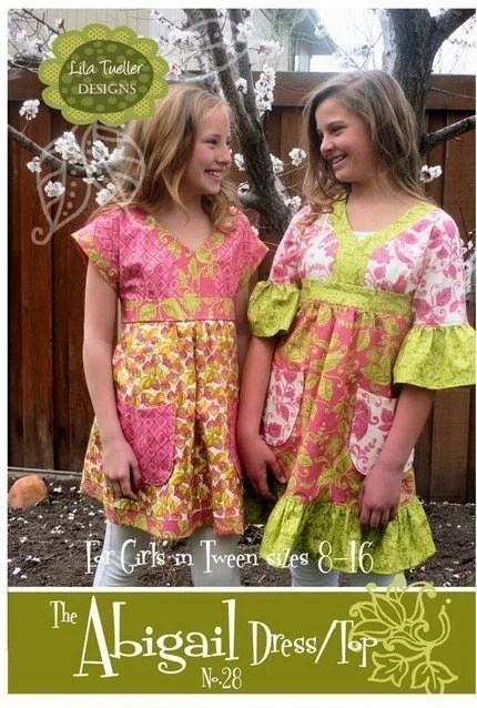 Abigail Dress and Top sewing pattern from Lila Tueller Designs   TWEEN Sizes