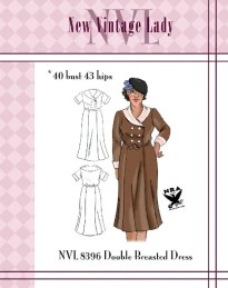 NVL 1930s Double breasted dress with shawl collar 40 bust NRA edition Plus Size