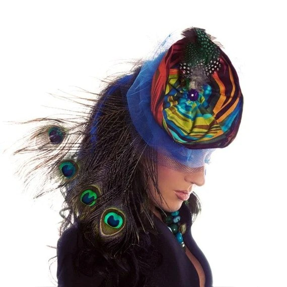 Peacock Inspired Headpiece
