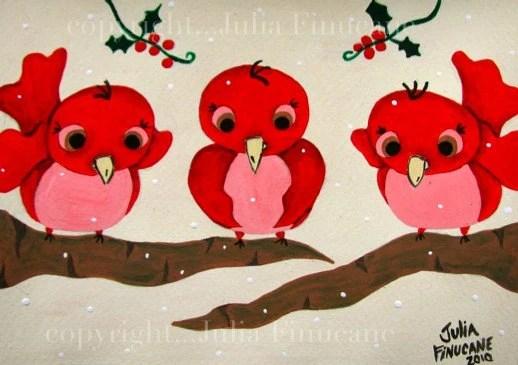 Red Bird Original Painting - $40