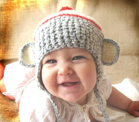 I've always wanted one of these sock monkey hats from Joretta