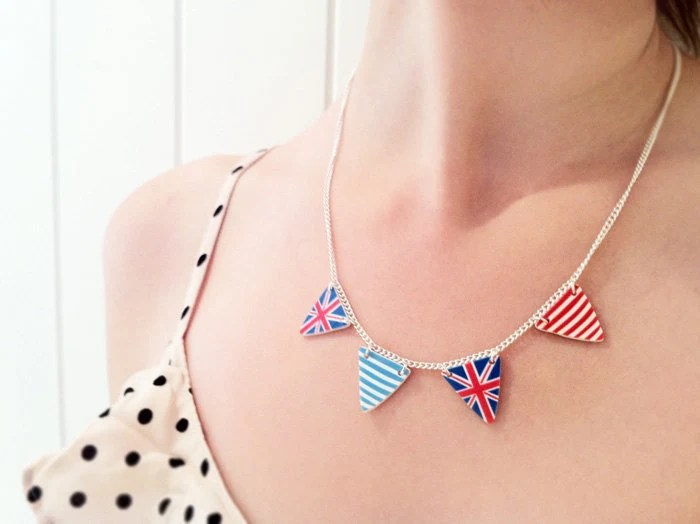 British Bunting Necklace
