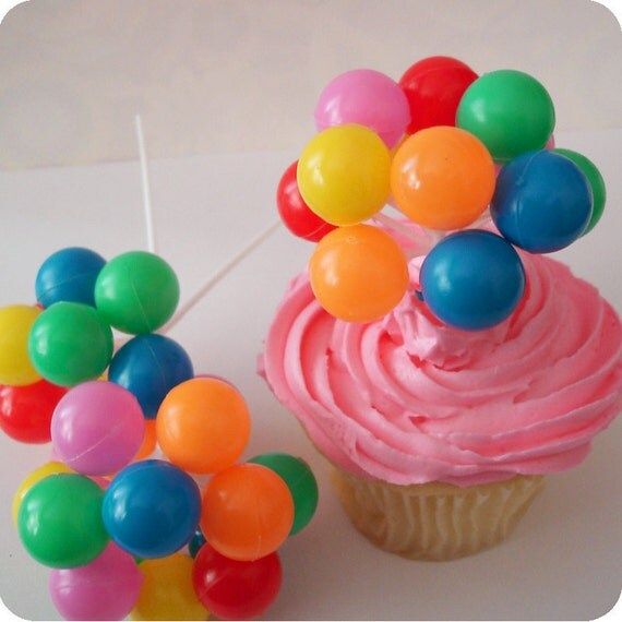 Party Balloon Cupcake Picks ( 6 )